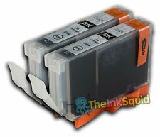 2 CLI-526bk Black Ink Cartridges for Canon Pixma iX6550