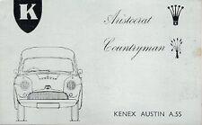 Kenex Austin A55 Van Aristocrat & Countryman Late 1960s UK Market Sales Brochure