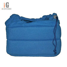 SLR Portable Camera Inner Partition Padded Protector Case Bag blue