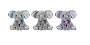 20cm Cute Cuddly Baby Elephant w/ Glitter Ribbon Plush Toy - Valentine Gift