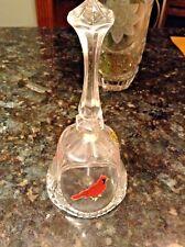 Vintage Cardiinals Bird Dinner Bell Leaded Crystal