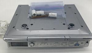 Sony ICF-CD543RM Clock Radio CD Timer Kitchen Under Cabinet Brackets No Remote