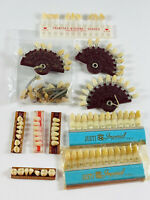BIG LOT (11) Vintage Dental Dentist Plastic Enamel Teeth Tooth LOOSE
