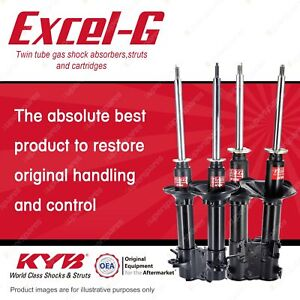Front + Rear KYB EXCEL-G Shock Absorbers for NISSAN Pulsar N14 I4 FWD All