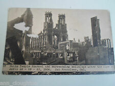 Rare Old PC Ruins Temple Emanuel After Fire San Francisco 18-19-20 April 1906