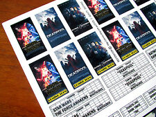 CINEMA STICKER SET for Lego 10232 10184 & CUSTOM BUILDS- THE FORCE AWAKENS +MORE