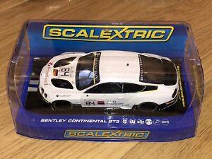 Scalextric C3714 Bentley Continental GT3 Bentley Team HTP No.84 Case Used