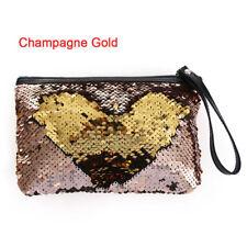 Women Girls Reversible Sequins Mermaid Glitter Handbag Evening Clutch Bag Wallet