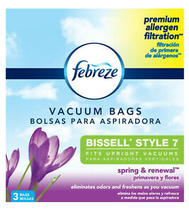 Febreze BISSELL STYLE 7 Vacuum Bags, 3 Pack Spring & Renewal Scent