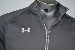 18740-a Under Armour Golf Pullover Shirt Zip Gray Size Large Mens Adult