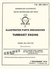NORTHROP NF-5 / GENERAL ELECTRIC J85-CAN-15N / ILLUSTRATED PARTS BREAKDOWN
