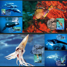 1998 Year of the Ocean Sea Life Maxi Cards Prepaid Postcard Maxicards Stamps