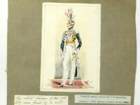Original Pen Ink Watercolour Painting 17th Lancers 1823/4 After Reynolds #RG2