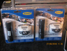 RING LED HEADLAMP AND TORCH DUAL SET X2 BNIB RT5192