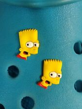 2 bart simpson face shoe charms für crocs & jibbitz armbänder.