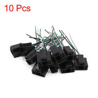 10Pcs Black Plastic H4 Light Extension Wiring Harness Socket Connector for Car