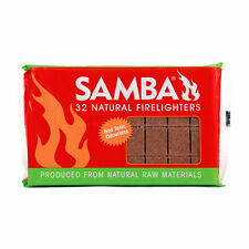 Samba Firelighters Starter Natural 32 Pc Non Toxic Odourless Wood Wax