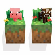Minecraft - Cow & Pig - 3D Vinyl Removable Wall Cling Decals Stickers