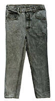 Vtg Jordache Black Acid Wash Straight Jeans Mens 32x32 High Waist 90s RARE