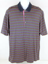 Callaway Collection Mens Striped Polo Golf Shirt Size X-Large Short Sleeve