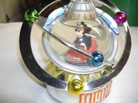 Micky in Tomorrowland at Auto Speedway Disney Snow Globe windup Music box
