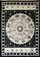 Tapestry Poster Zodiac Sunsign Small Wall Hanging Beautiful Cotton Fabric White