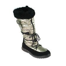 Anna Field Damen Winterstiefel Snowboot Boots gefüttert Schwarz Silber