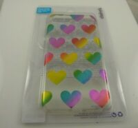 rainbow heart fits iPhone 6 plus, 7 & 8 + plus phone case hearts  plastic cover
