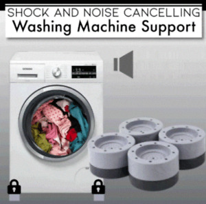 Shock And Noise Cancelling Washing Machine Support - Free Shipping [-75%]
