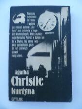 Rare Vintage 1970's Kurtyna Curtain Poirot's Last Case Agatha Christie In Polish