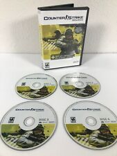 Counter Strike Source PC CD Rom Game 4 Disc Set Good Condition