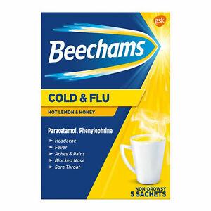 Beechams Cold Flu Hot Lemon and Honey Sachets (MAX TWO UNIT PER TRANSACTION) - 5