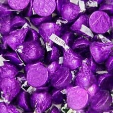 Hershey's Kisses Dark Chocolate Candy Purple Wrapping, Bulk