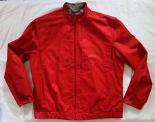 Vintage Members Only by Euro Craft Men's Sz 11/12 Red Zip Front Jacket