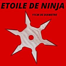 étoile de ninja acier à lancer + pochette neuf art martiaux karaté diamètre 11cm