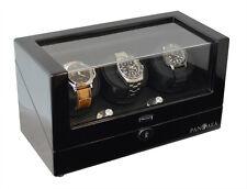 Pangaea T330 Triple Watch Winder Dual Power Battery or AC Powered Mabuchi Motor