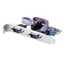 2 porta PCIe porta com Scheda controller PCI Express, 2x seriale rs232 db9