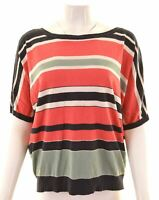 MAX MARA Womens T-Shirt Top Size 16 Large Multicoloured Striped  EX23