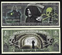 LOT OF 25 BILLS - GRIM REAPER DEATH MILLION DOLLAR BILL FOR HALLOWEEN