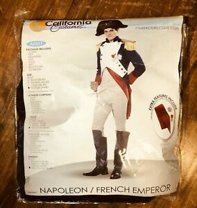 Men's Adult Napoleon French Emperor Halloween Costume Classic Costume AS IS READ