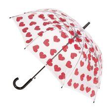 CLIFTON Umbrella - PVC - Hearts  - Full Size Automatic - BNWT