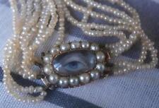 Lovely Géorgien ensemencement naturel collier de perles avec Lovers Eye Fermoir