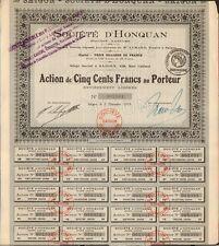 Société d'HONQUAN (SAIGON INDOCHINE) (H)