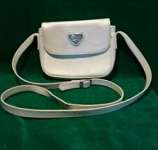 MAISON MOLLERUS White Leather Flap Messenger Bag