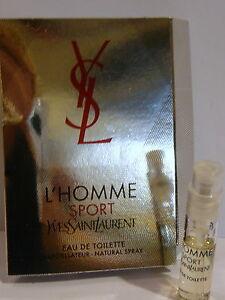 Yves Saint Laurent L'Homme  Sport EDT spray vial 1.5ml new