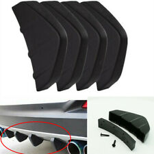 4PCS Spoiler Diffuser Shark Fins ABS Universal Fit For Car Rear Bumper Lower