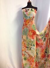 NEW Designer multicolour B/wings Chiffon Floral Print Fabric Dress Serong Blouse