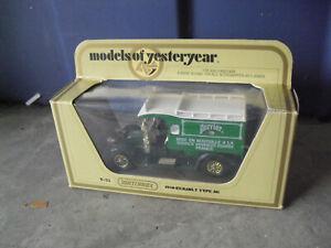 Vintage 1978 Matchbox Models of Yesteryear Perrier Water 1910 Renault Truck NIB
