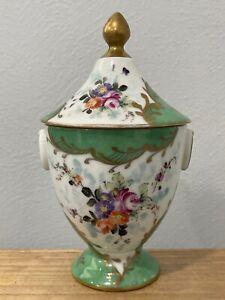 Vintage French Sevres Style Porcelain Covered Dish Possibly Vincennes Floral Dec
