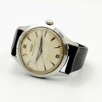 TISSOT 28.5R-21 Automatic Wristwatch 17J Textured Dial Swiss Made 1950's Watch